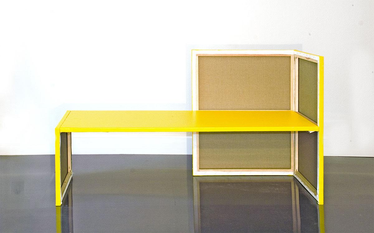 Canvas corner bench